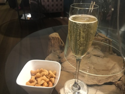 Laurent Perrier Grande Siecle and Cashew Nuts
